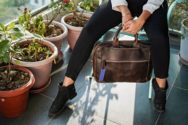 Leather Convertible Backpack Briefcase Handle