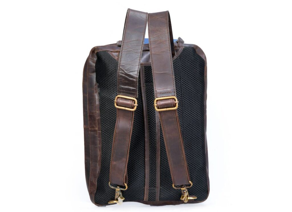 Leather Convertible Backpack Removable Straps