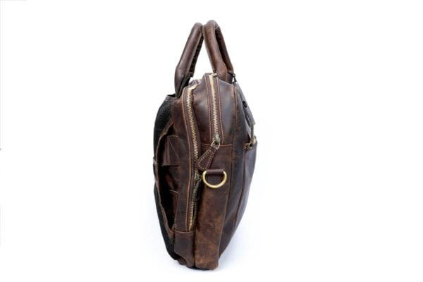 Leather Convertible Backpack Side View