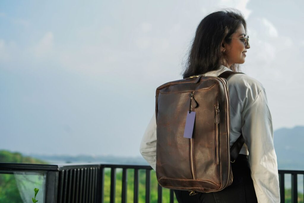 Leather Convertible Travel Backpack